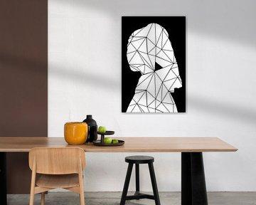 Meisje Met de Parel - The Modern Art Edition