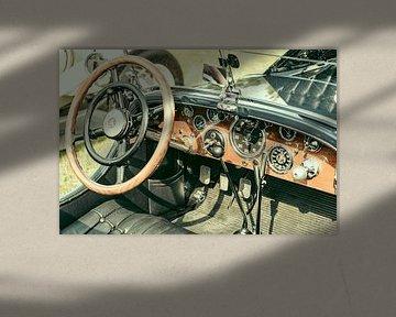 Tableau de bord du cabriolet Mercedes-Benz SSK Sport sur Sjoerd van der Wal