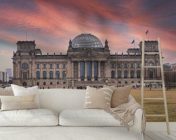 Sfeerimpressie behang: Reichstag in Berlijn van VanEis Fotografie
