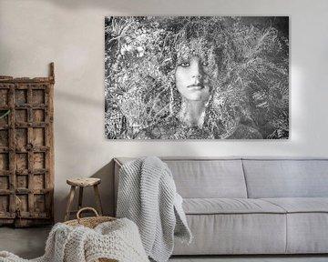 Modern Nostalgisch portret van Marijke de Leeuw - Gabriëlse