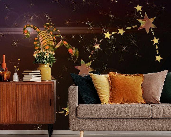Sfeerimpressie behang: sterrenbeeld - Schorpioen van Christine Nöhmeier