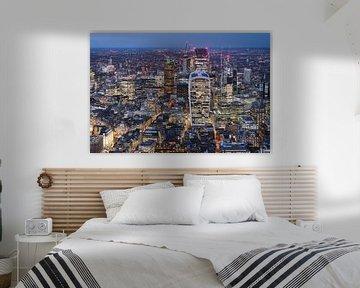 De skyline van London, gezien vanaf The Shard van Mitchell van Eijk