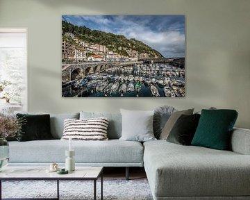 Le port de la ville côtière d'Elantzxobe, au nord de l'Espagne sur Harrie Muis