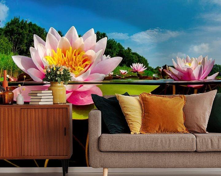 Sfeerimpressie behang: De wereld van de Waterlelies van Filip Staes