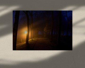 Stadswal van Elburg in de nacht van Jenco van Zalk