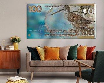 Bankbiljet van 100 Gulden Modern, Abstract Digitaal Kunstwerk van Art By Dominic