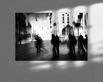 Straßenszene von Peter van der Mast