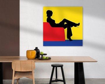 Zu Hause bei Mondrian von Harry Hadders