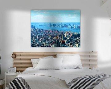 Manhattan met uitzicht op de Hudson rivier 2 van Thomas Zacharias