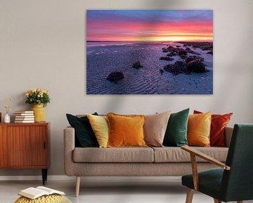 Kleurige zonsopkomst - Natuurlijk Ameland van Anja Brouwer Fotografie