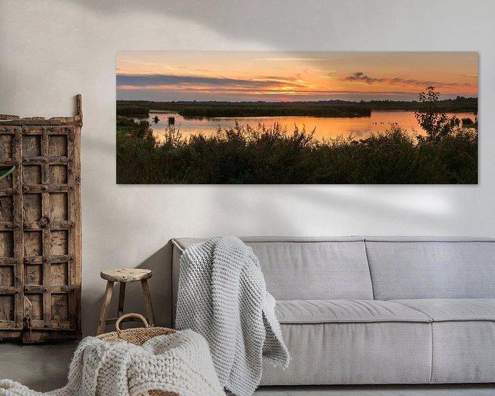 Sfeerimpressie: Panorama zonsondergang Onlanden van Marga Vroom