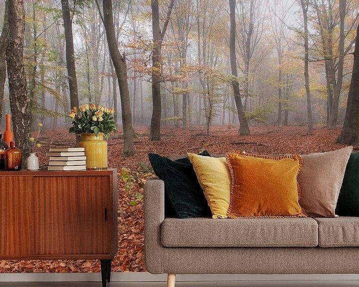Beispiel fototapete: Nebliger Wald von Geert Brosens