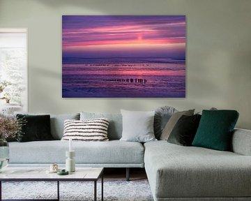 Intensive Farben im Wattenmeer - Natürliches Wattenmeer von Anja Brouwer Fotografie