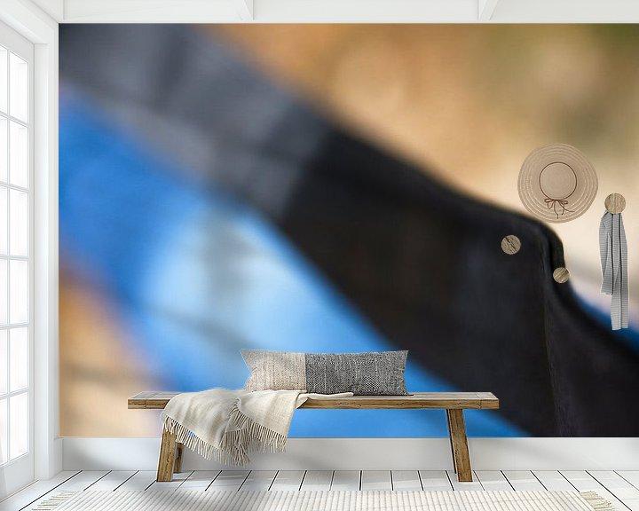 Sfeerimpressie behang: Lines and colors van Willy Backhaus