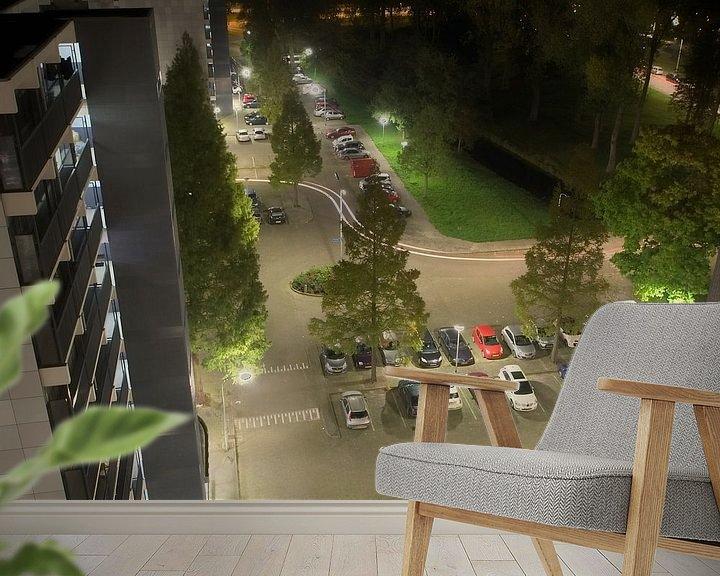 Sfeerimpressie behang: Citylife van Willy Backhaus