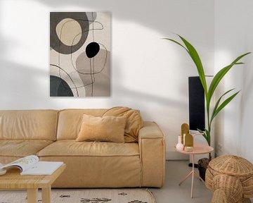 Abstrakte Kunst mit geometrisch organischen Formen und Linien von Diana van Tankeren