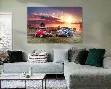 Classic Mini Cooper S bij zonsopkomst van Thomas Boudewijn