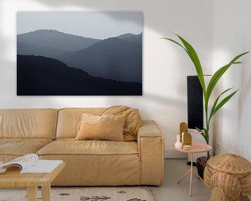 Zonsondergang in de bergen van Dennis Claessens