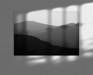 Sonnenuntergang in den Bergen von Dennis Claessens