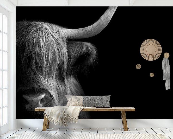 Sfeerimpressie behang: Schotse Hooglander van Karel Ton