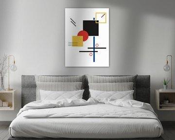 Geometrie - Farbenfroher geometrischer Druck von MDRN HOME