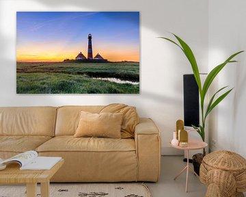 Morgenrot  am Leuchtturm von Werner Reins