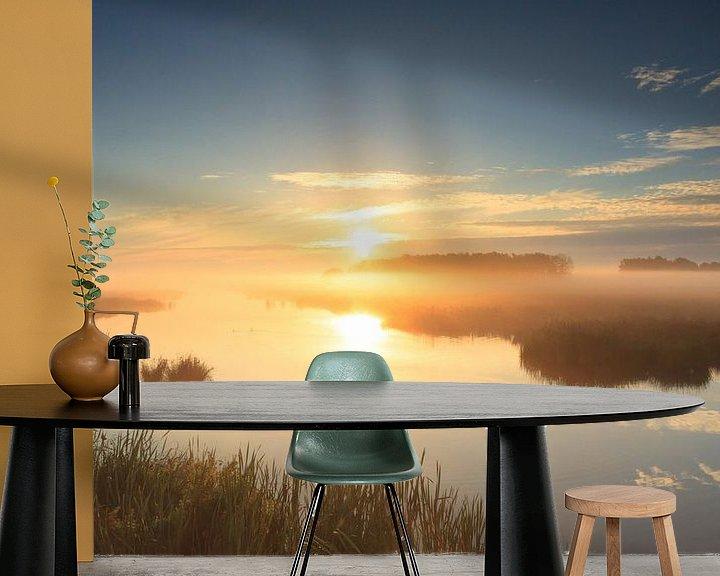 Sfeerimpressie behang: Golden sunrise! van Sander van der Werf