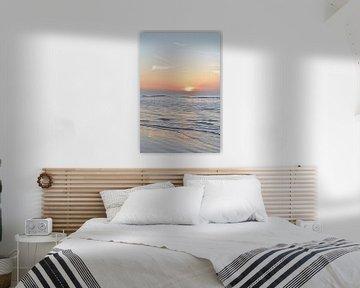 Sonnenuntergang an der niederländischen Küste von Christa Stroo fotografie