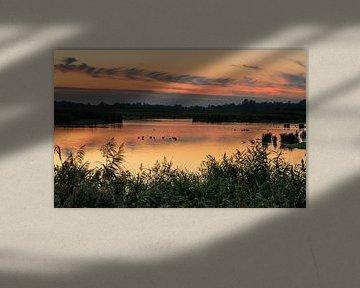 Zonsondergang Onlanden van Marga Vroom