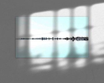 Spiegel glad Uitgeestermeer van Digital Art Nederland