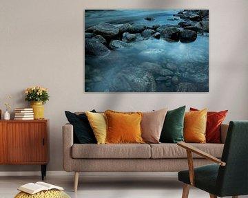 Stenen in het water, Noorwegen van Karijn | Fine art Natuur en Reis Fotografie