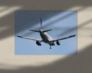 united A320 landing van Bas Berk