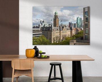 Het schitterende stadhuis op de Coolsingel in Rotterdam