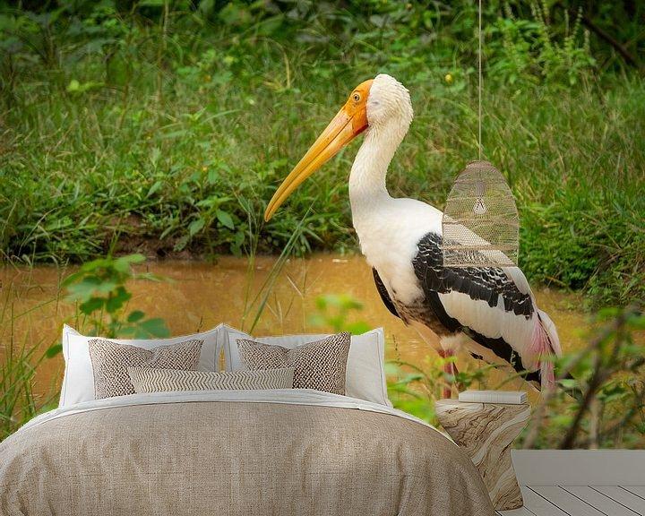 Beispiel fototapete: Vogel im Dschungel von Nicole Nagtegaal