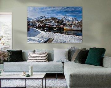 Hafen von Nusfjord von Maik Richter