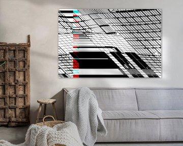 Rot und Cyan: Wohnblock von Christophe Fruyt