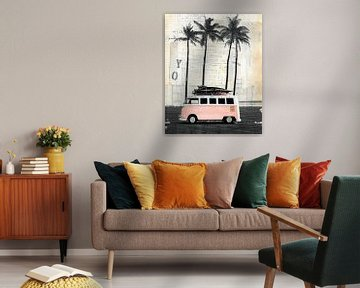 Bestelwagen en Palm van Nora Bland