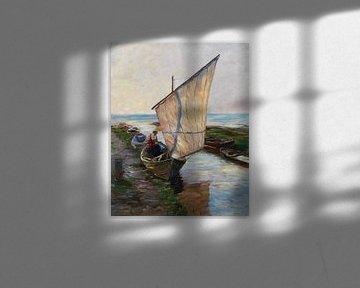 Segelboot, Holland, ALEXANDER KOESTER, 1902