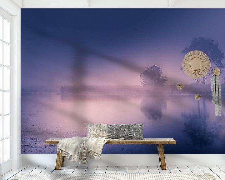 Beispiel fototapete: Nebel am Morgen von Bjorn Dockx