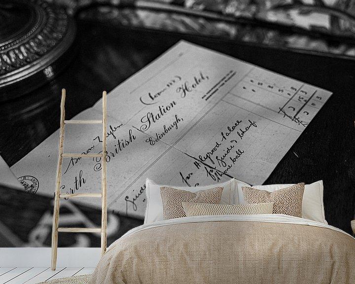 Beispiel fototapete: Brief aus Edinburg von Alwin van Wijngaarden
