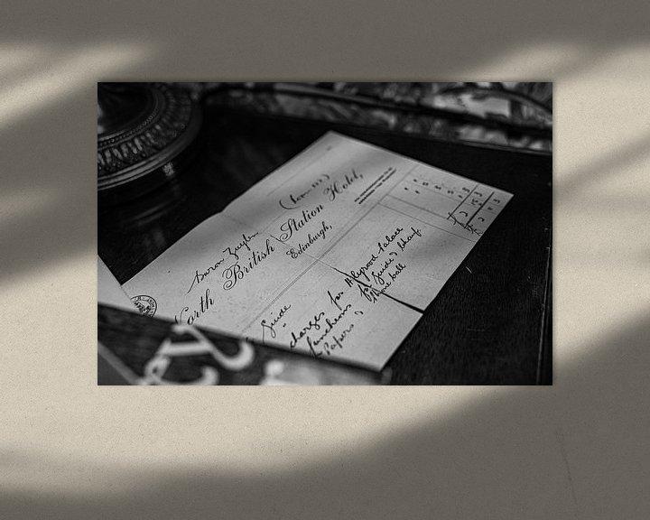 Beispiel: Brief aus Edinburg von Alwin van Wijngaarden