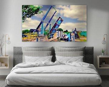 Ophaalbrug van Ewijcksluis van Digital Art Nederland