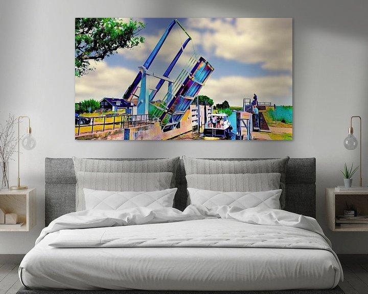 Beispiel: Zugbrücke von Ewijcksluis von Digital Art Nederland