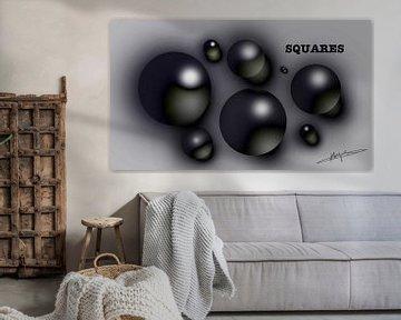 SQUARES in Abstract van Brian Morgan