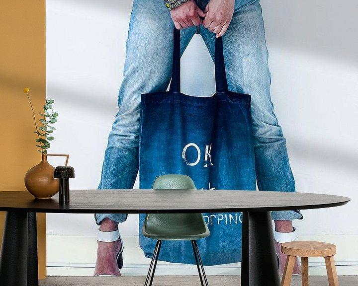 Sfeerimpressie behang: Jeans style van Katja • W