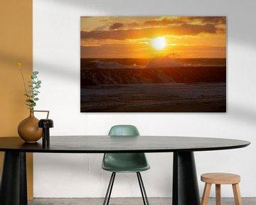 Zonsondergang in Zeeland van MSP Canvas