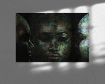 Abstraktes Porträt drei Frauen von Maurice Dawson