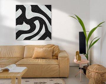 Abstrakte Linien in Schwarz-Weiß von Maurice Dawson