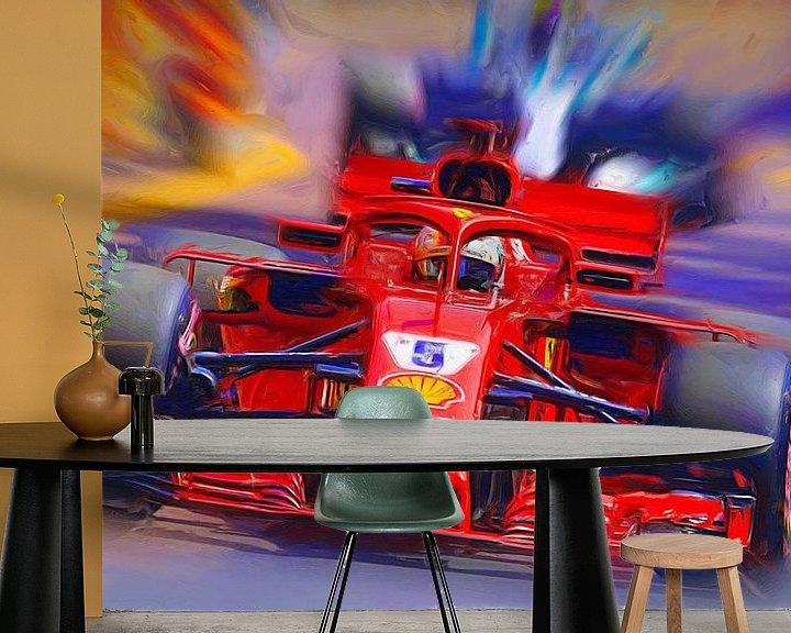 Beispiel fototapete: Sebastian Vettel von Jean-Louis Glineur alias DeVerviers