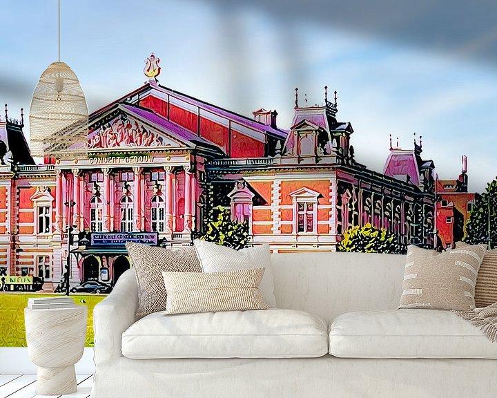 Beispiel fototapete: Königliches Konzertgebäude Amsterdam von Digital Art Nederland